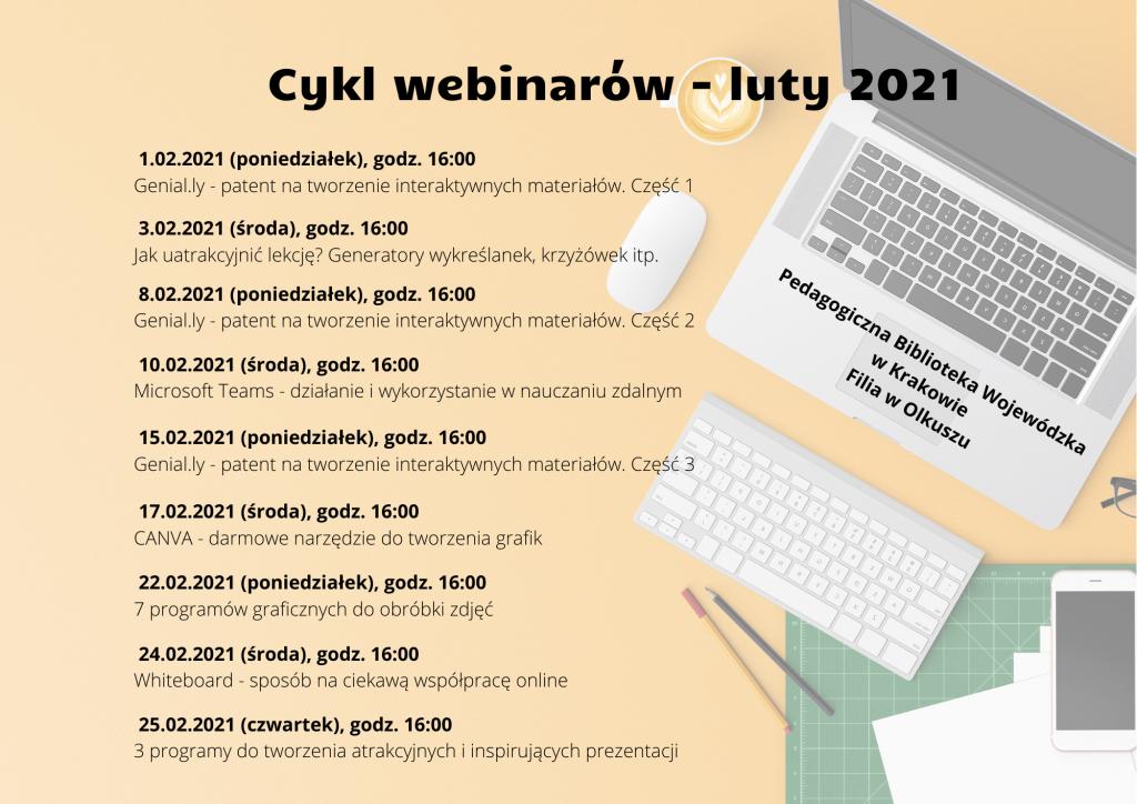 Cykl webinarów – luty 2021