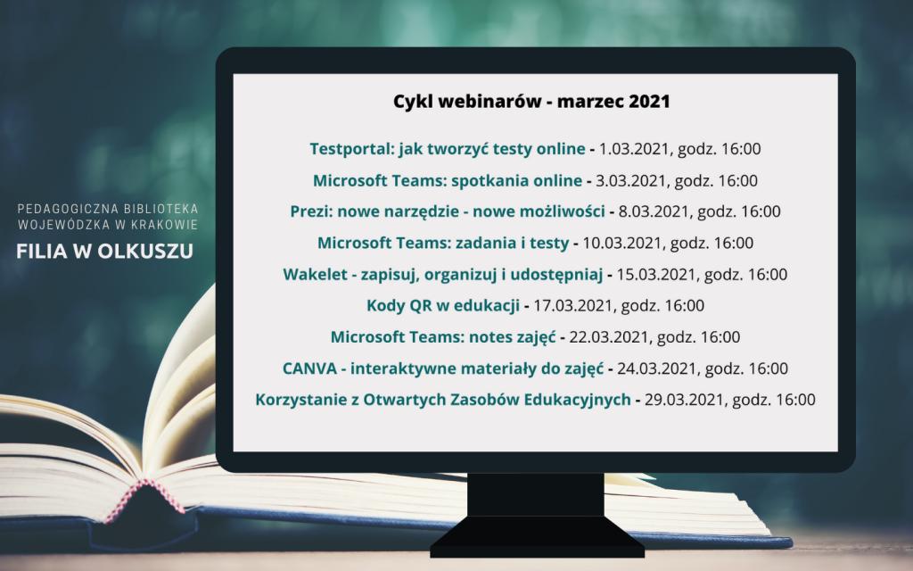 Cykl webinarów – marzec 2021