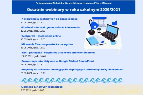 Cykl webinarów – maj 2021