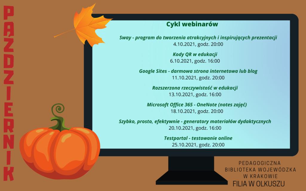 Cykl webinarów – październik